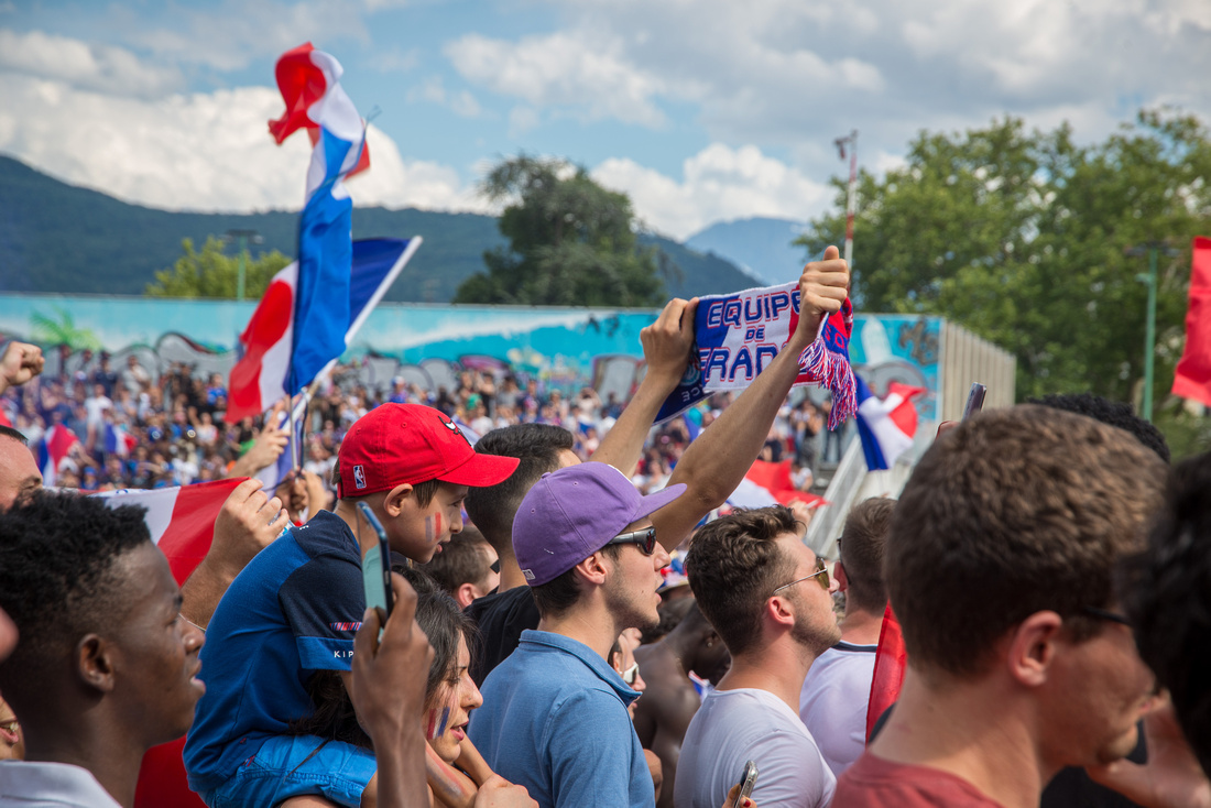 Champions du Monde 2018 vus de Grenoble • World Cup 2018 Winners seen from Grenoble, France